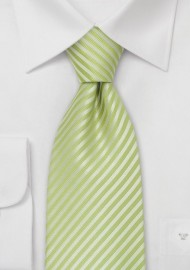 Bright Green Silk Tie for Kids