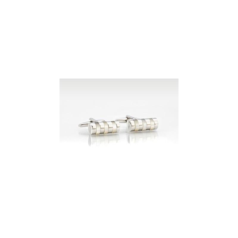 Designer Cufflinks in Pearl & Silver