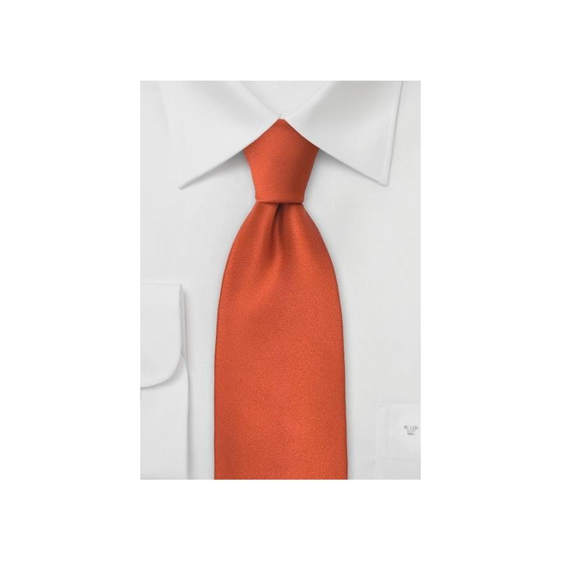Solid Necktie in Persimmon-Orange