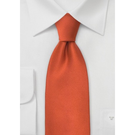 Persimmon Orange Tie in XL
