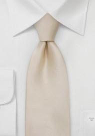 Solid XL Necktie in Champagne