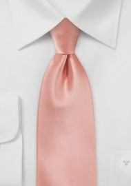 Solid Neck Tie in Peach Color