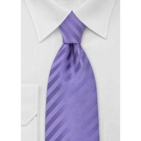 Solid Lavender-Purple Mens Tie