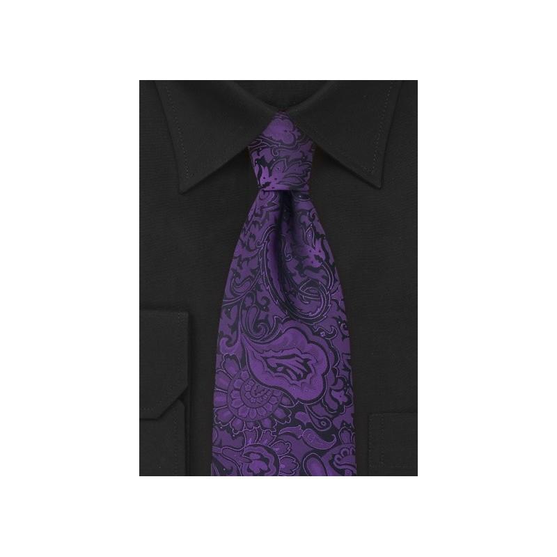 Purple Paisley Pattern Tie