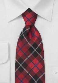 Traditional Tartan-Check Pattern Necktie