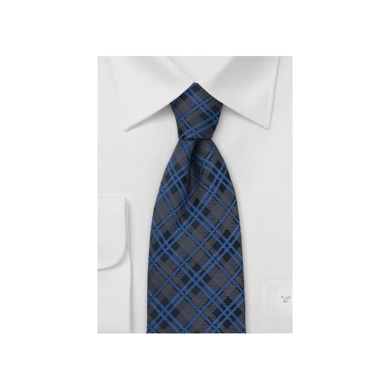 Classic Tartan-Check Pattern Silk Tie