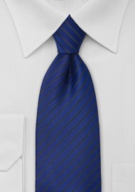 Striped Necktie in Egyptian Blue