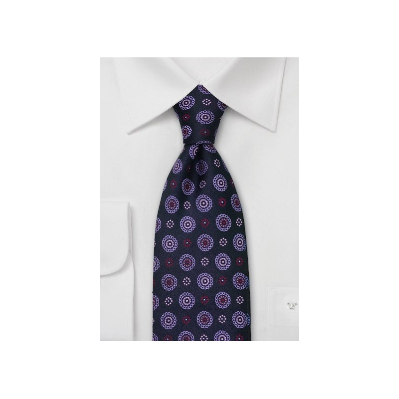 Lavender and Purple Silk Tie by Chevalier