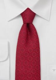 Designer Necktie by Chevalier in Venetian-Red