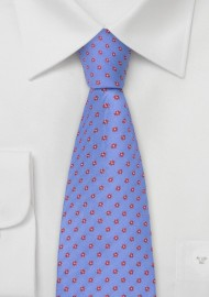 Indigo-Blue Floral Tie by Chevalier