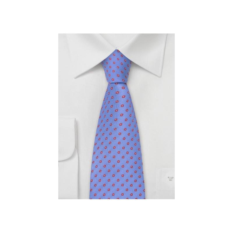 Indigo-Blue Floral Tie by Chevalier
