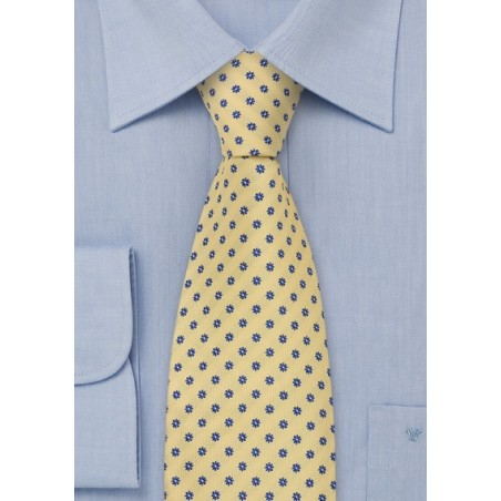 Lemon Yellow Silk Tie by Chevalier