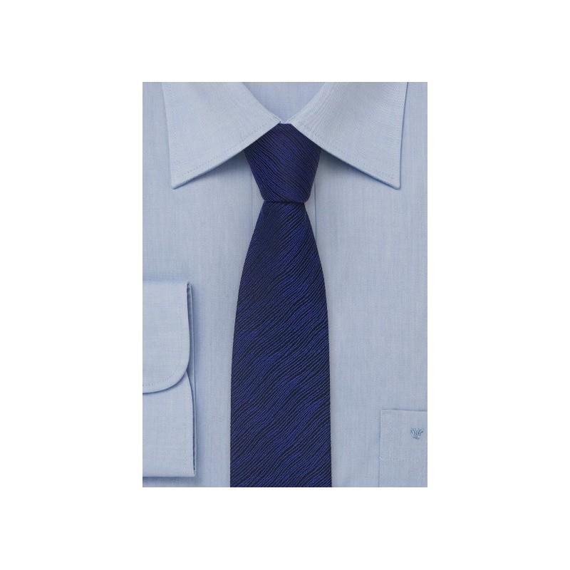 Skinny Tie in Black and Blue