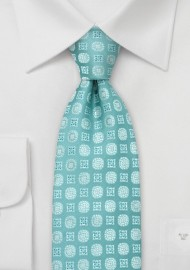 Aqua-Blue Floral Tie by Chevalier