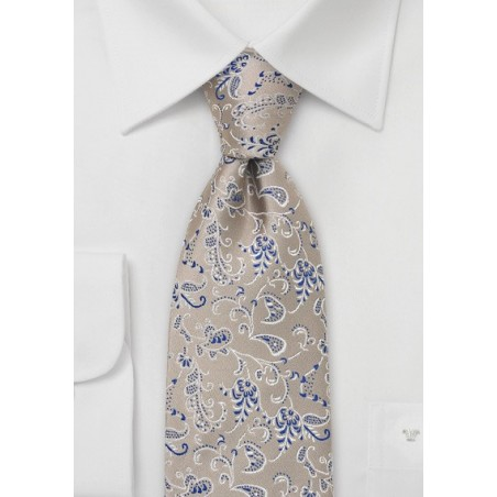 Champagne Silk Tie by Chevalier