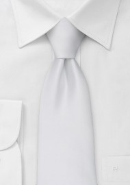 Bright White Kids Necktie
