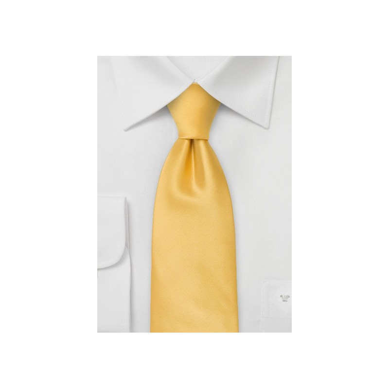 Solid Yellow Kids Tie