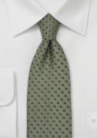 Sage Green Designer Necktie by Chavalier