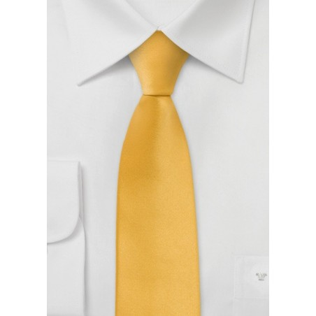 Bright Yellow Skinny Tie