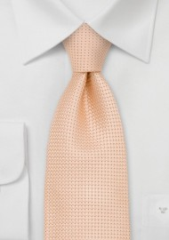 Light Apricot Mens Silk Tie