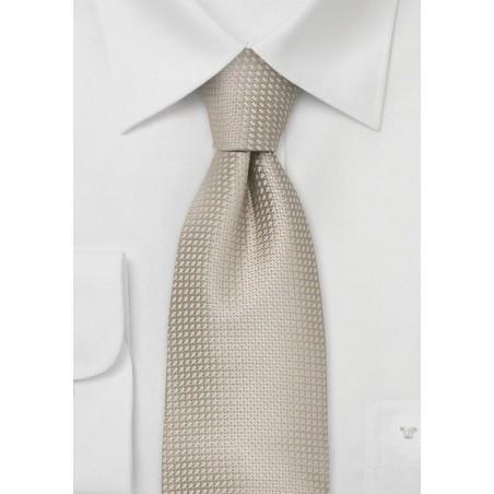 Wheat-Tan Silk Tie in XL