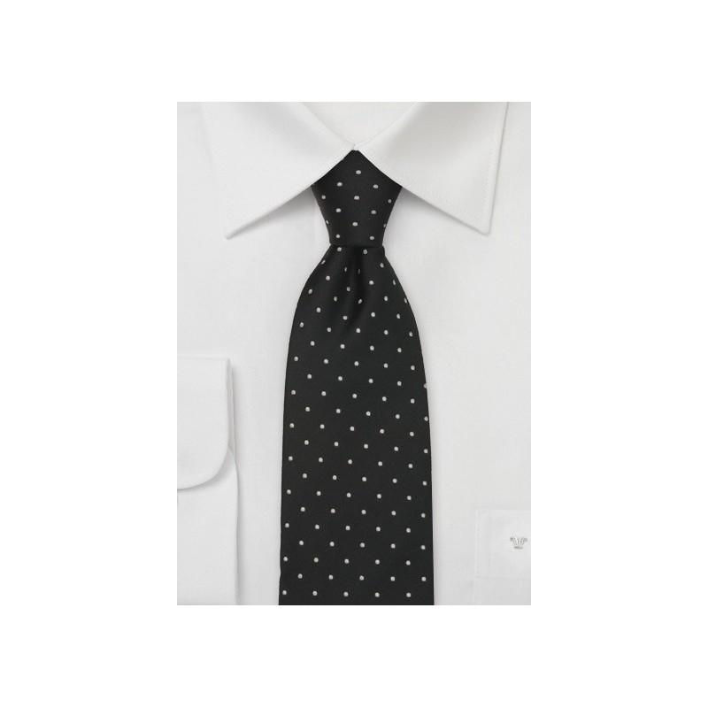 Black & White Polka Dot Tie