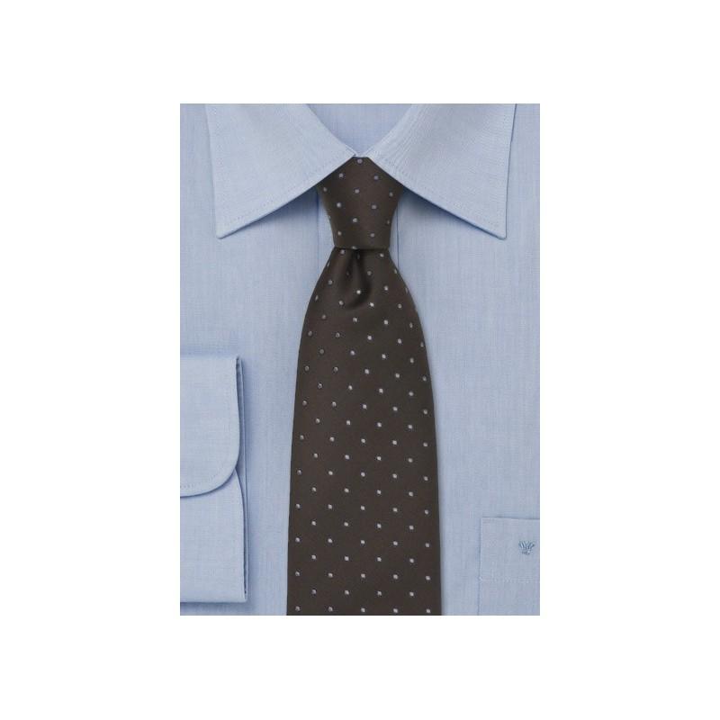 Dark Brown Polka Dot Tie