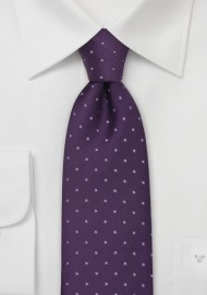 Dark Purple Polka Dot Tie