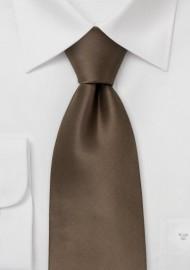 Solid Bronze Brown Silk Tie