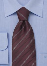 85598e05a897 Burgundy Red Striped Mens Necktie