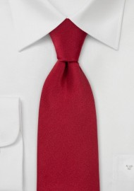 Solid Color Cherry Red Tie