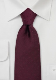 Solid Burgundy Polka Dot Tie