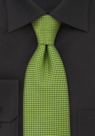 Metallic Green Silk Necktie