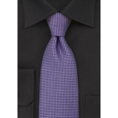 Purple Patterned Silk Tie