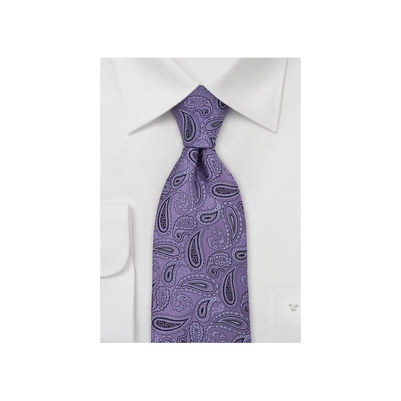 Purple Paisley Silk Necktie