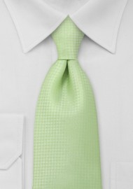 Light Lime Green Mens Tie