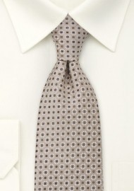 Light Brown Foulard Mens Tie