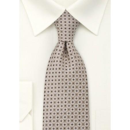 Light Brown Foulard Mens Tie