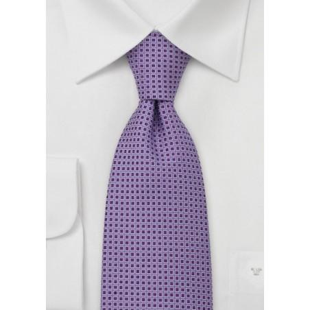 Lavender Tie with Purple Checks