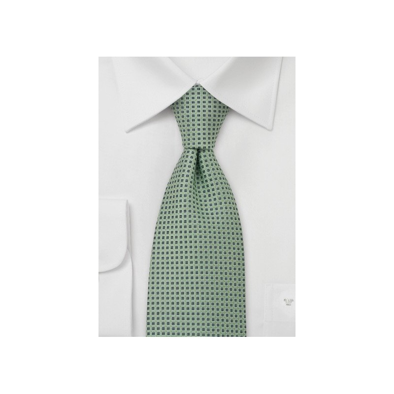 Tea Green Silk Necktie