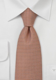 Foulard Silk Tie in Pink Orange