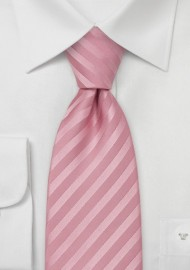 Striped Kids Tie in Pink