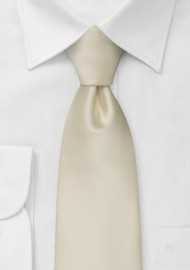 Extra Long Champagne Color Tie