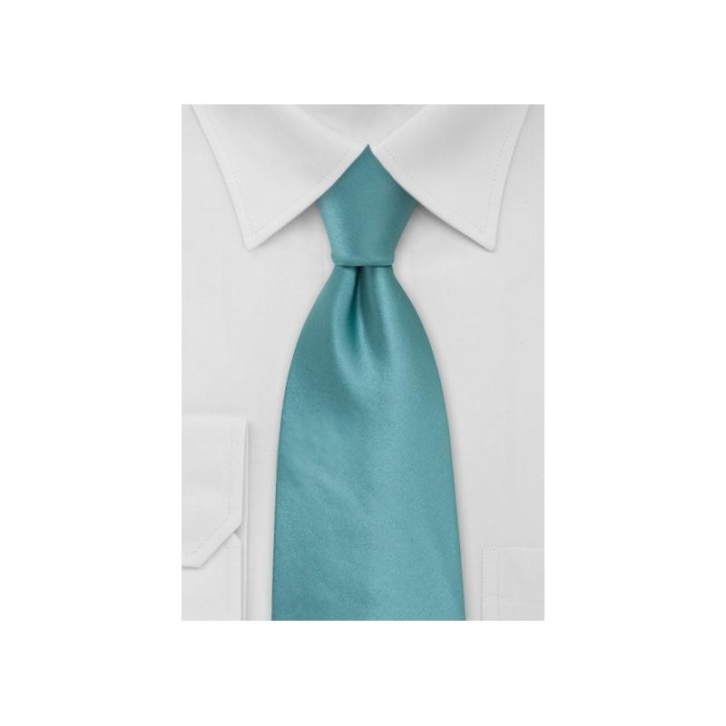 Solid Light Teal Green Necktie