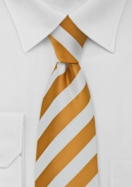 Amber and White Necktie