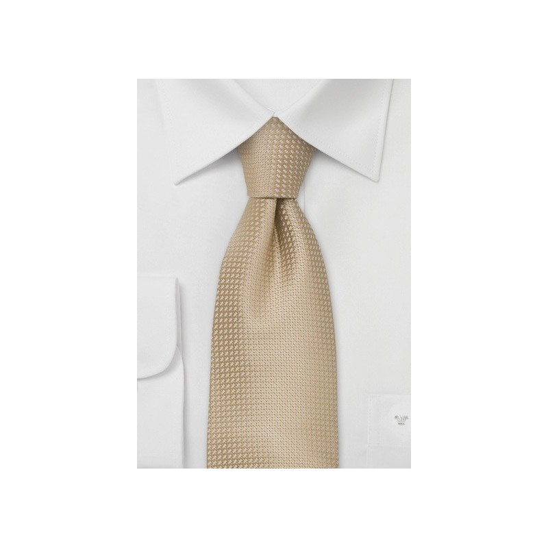 Light beige Colored Silk Kids Tie