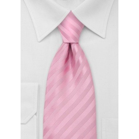 Extra Long Necktei in Rose-Pink