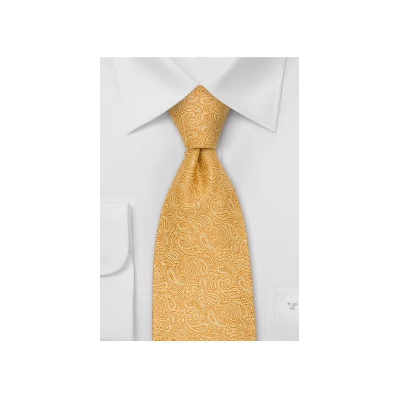Paisley Tie in Yellow