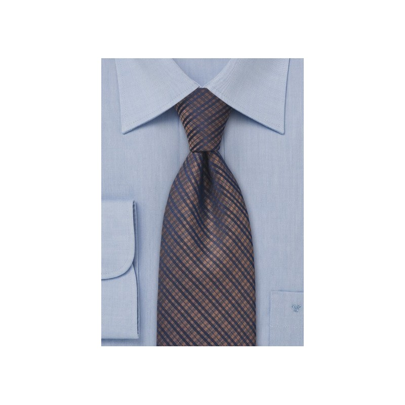 Copper and Navy Designer Tie