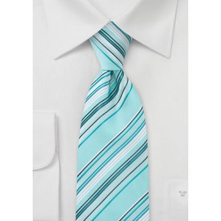 Aquamarine Blue Striped Tie